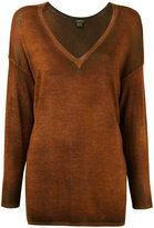 Avant Toi tonal V-neck sweater - women - Silk/Cashmere - XS