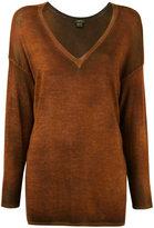 Avant Toi tonal V-neck sweater