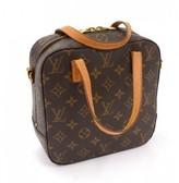 Louis Vuitton very good (VG Brown Monogram Canvas Spontini Handbag