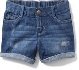 Old Navy Denim Boyfriend Shorts for Toddler Girls