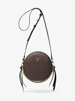 MICHAEL Michael Kors Delancey Medium Color-Block Logo Canteen Crossbody Bag