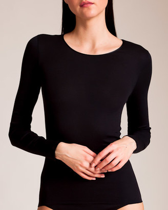 Hanro Cotton Seamless Long Sleeve Top