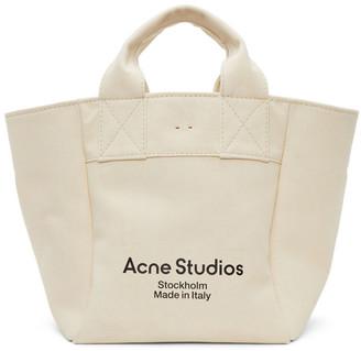 Acne Studios Beige Canvas Large Tote