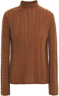 Theory Cable-knit Cashmere Turtleneck Sweater
