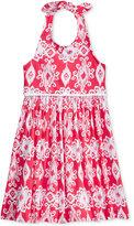 Good Lad Aztec-Print Halter Dress, Little Girls (2-6X)