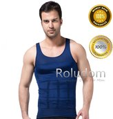 Roludom Men's Slimming Body Shaper Tummy Waist Magic Compression Muscle Tank Top