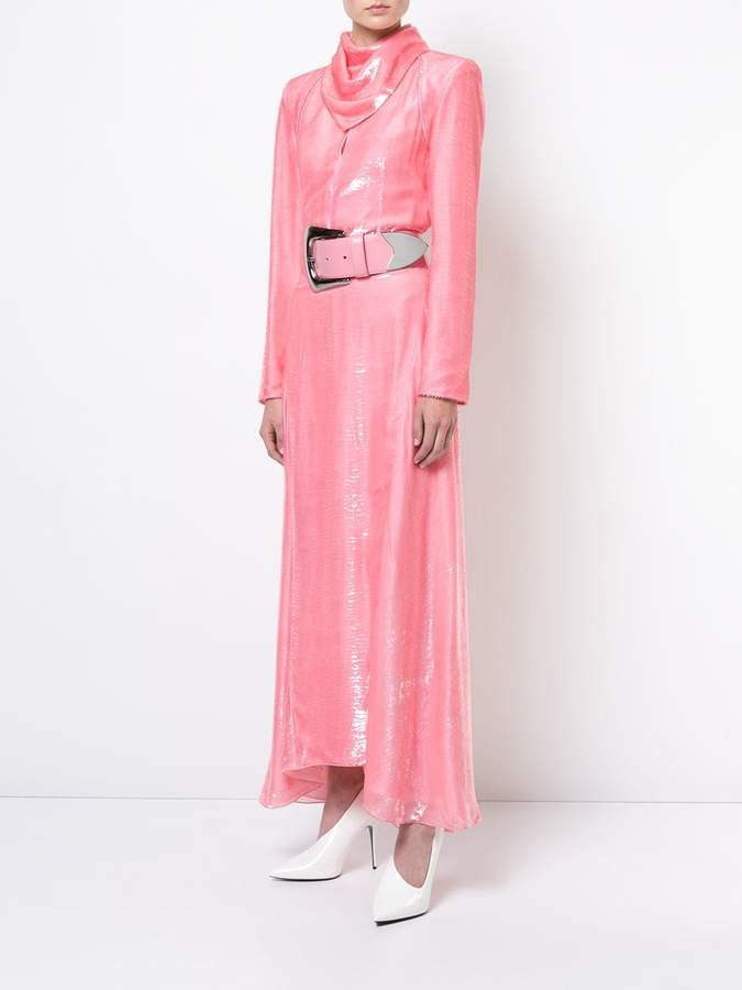 Nina Ricci belted neckerchief dress