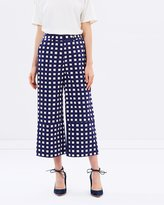 Warehouse Gingham Cropped Trousers