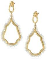 Azaara Delicate Freshwater Pearl Teardrop Earrings