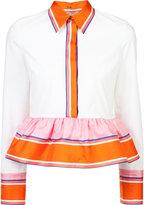Emilio Pucci peplum hem blouse - women - Silk/Cotton/Spandex/Elastane - 38