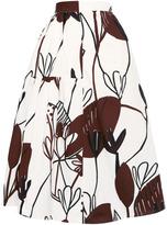 Marni Preorder Poplin Wood Cut Garden Skirt