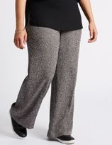 Marks and Spencer Textured Wide Leg Trousers