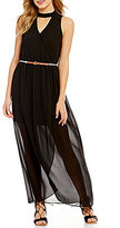 I.N. San Francisco Choker Neckline Maxi Dress