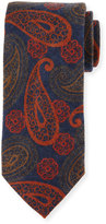 Peter Millar Paisley-Print Silk Tie, Navy