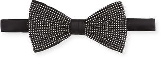 Stefano Ricci Men's Crystal-Embellished Silk Bow Tie