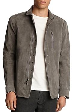 John Varvatos Collection Silky Goat Suede Regular Fit Shirt Jacket