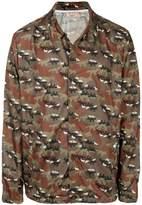 MAISON KITSUNÉ camouflage dog print jacket
