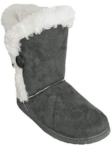 Dawgs Women's 9-Inch Button Microfiber Winter Boot