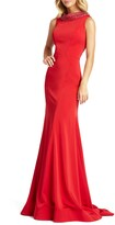 Mac Duggal Embellished Cowl Neck Trumpet Gown