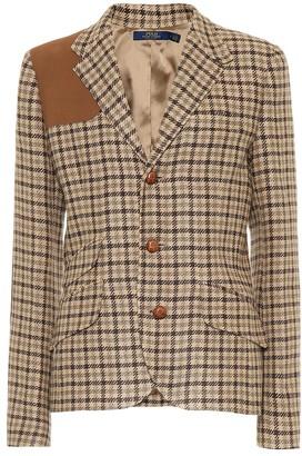Polo Ralph Lauren Checked linen-blend blazer