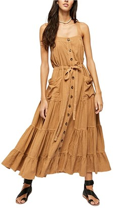 Free People Catch The Breeze Midi (Brown) Women's Clothing