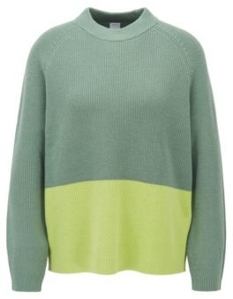 BOSS Relaxed fit sweater with colour-block detail