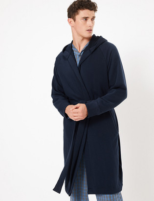 Marks and Spencer Cotton Jersey Hooded Dressing Gown
