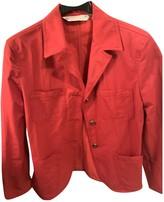 Krizia Red Cotton Jacket for Women