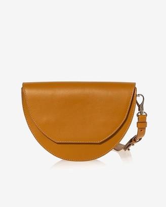 Express Joanna Maxham Leather Lune Saddle Crossbody Bag