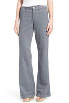 NYDJ Claire Linen Blend Wide Leg Trouser Pant