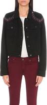 Paige Vivienne embroidered denim jacket