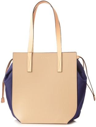 Marni Handbags Gusset Shopping Bag in Light Camel