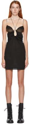Nensi Dojaka SSENSE Exclusive Black Bra Fitted Mini Dress