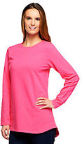 As Is Denim & Co. Active Petite French Terry Tunic