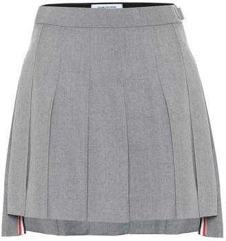 Thom Browne Pleated wool-blend miniskirt