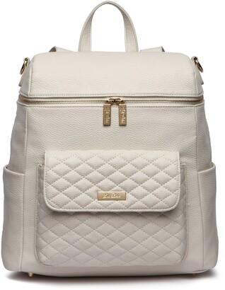 Luli Bebe Monaco Faux Leather Diaper Backpack