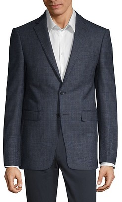 Calvin Klein Slim Fit Windowpane Check Sport Jacket