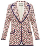 Gucci Horsebit-print Single-breasted Crepe Jacket - Womens - Ivory Multi