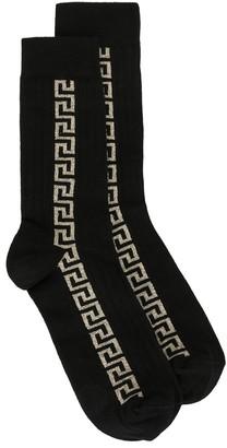 Versace Greca detail logo socks