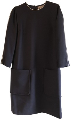 Mulberry Navy Wool Dress for Women