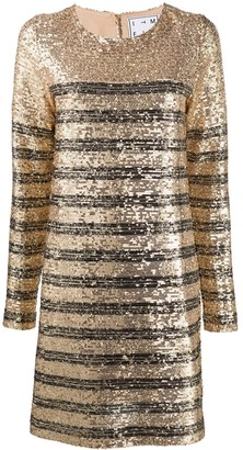 In The Mood For Love Ximena striped sequin dress