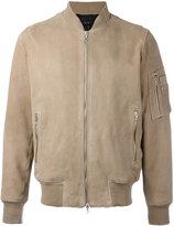 Rag & Bone bomber jacket - men - Cotton/Goat Skin/Polyamide/Acetate - S