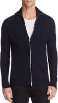 Theory Ronzons Merino Wool Zip Cardigan Sweater