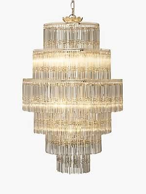 John Lewis & Partners Athenea Chandelier Ceiling Light, Smoke/Clear