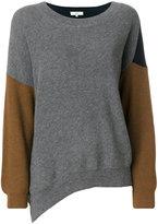Vanessa Bruno asymmetric colour-block jumper - women - Cotton/Wool - S