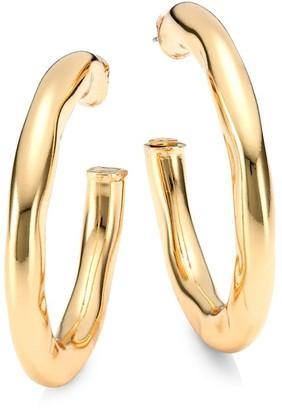 Kenneth Jay Lane Wavy Hoop Earrings