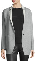 Rag & Bone Mica Wool Felt Blazer, Gray/Cream
