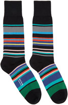 Paul Smith Black Spag Stripe Socks