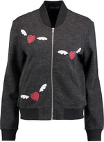 Markus Lupfer Embroidered cotton and wool-blend jersey jacket
