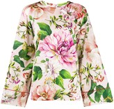 Dolce & Gabbana floral flared sleeve blouse